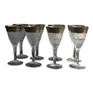Vintage Moser Splendid Crystal Port Wine Glasses - Set of 8