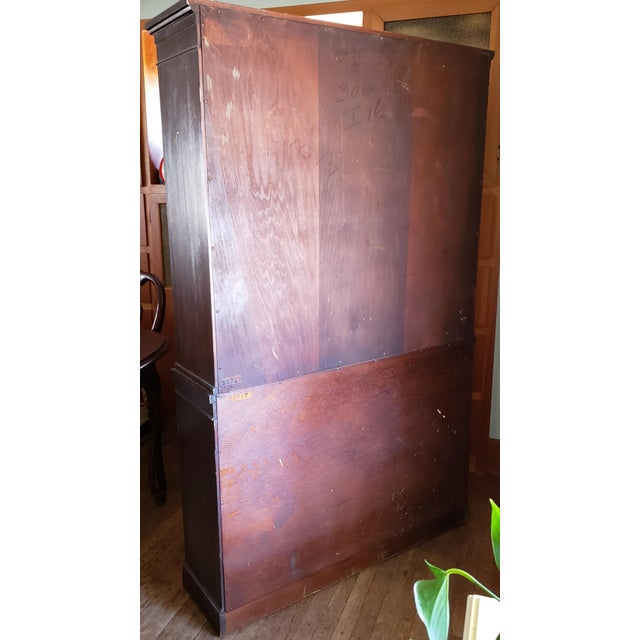 20th Century Gothic Mahogany China Cabinet For Sale - Image 6 of 12