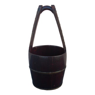 Antique Chinese Water Bucket For Sale