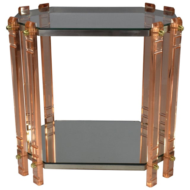 20th Century French Plexiglass Etagere or Bar Cart For Sale - Image 11 of 11