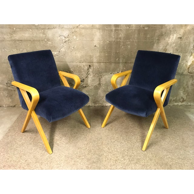 1940s Vintage Thonet Bentwood Armchairs - a Pair For Sale - Image 13 of 13