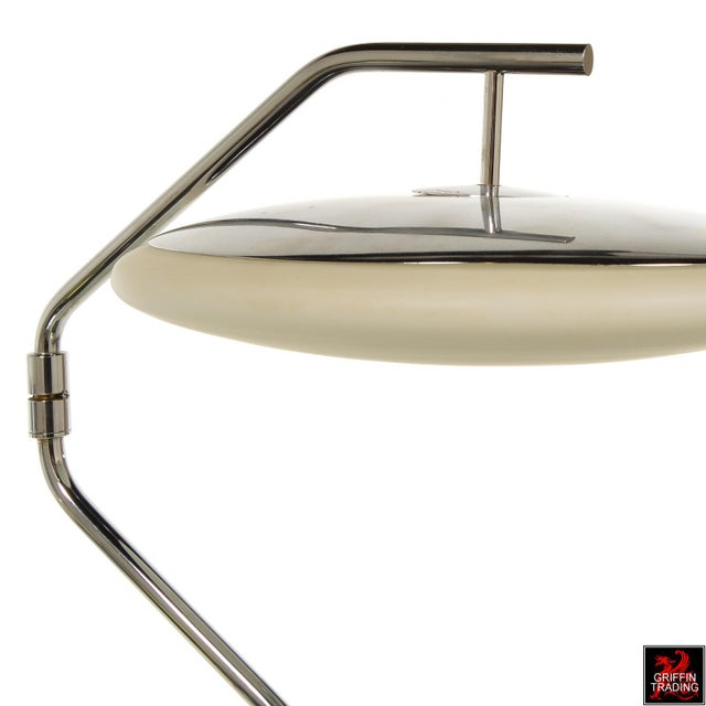 Silver Chrome Italian Desk Lamp with Swing Arm For Sale - Image 8 of 11