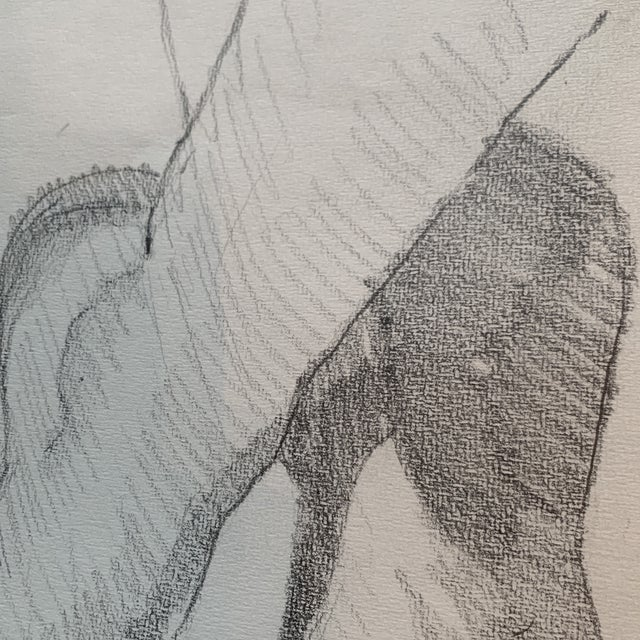 1970s 1970s Graphite Artists Study of Feet Classical Style For Sale - Image 5 of 8