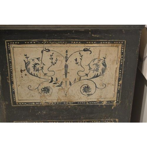 Antique Chest With New Paint From Spain For Sale - Image 12 of 13