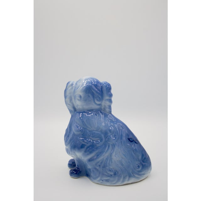 Blue Staffordshire Style Blue Spaniel Figurines - a Pair For Sale - Image 8 of 11