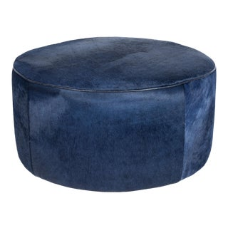 "Gregg Floating Ottoman Navy 36"" For Sale"