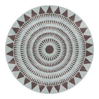 Sample for Ht Nz Wool Sunteeth Aqua Rug - 5″ × 10″ For Sale