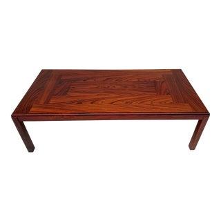 Mid-Century Modern Vejle Stole & Mobelfabrik Rosewood Coffee Table Denmark For Sale
