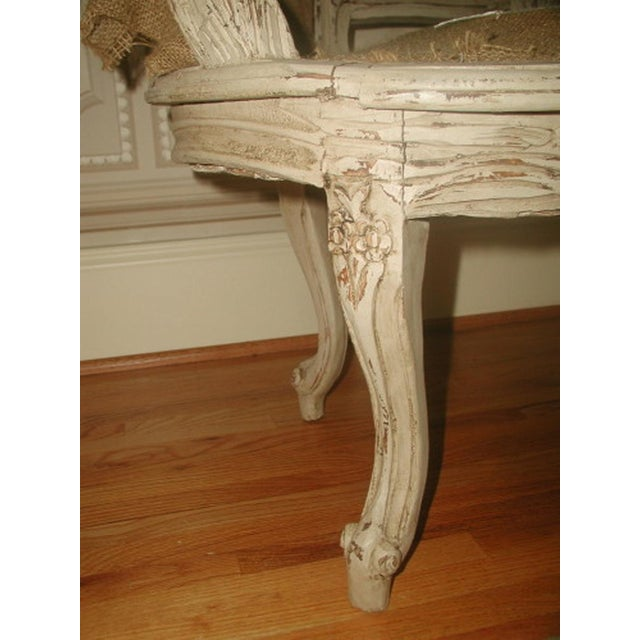 French 19th C. Hand Carved & Caned Settee - Image 5 of 10