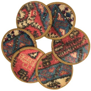 Kilim Coasters Set of 6 | Altuncular For Sale