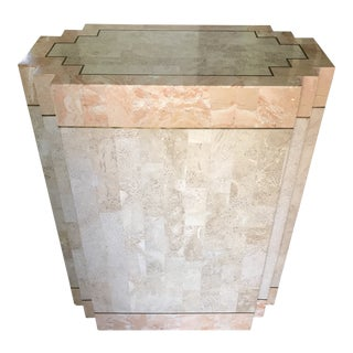 Maitland Smith Art Deco Tessellated Pedestal