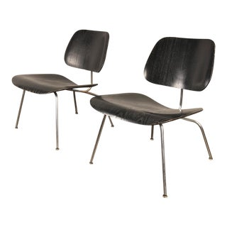 1950s Black LCM by Charles and Ray Eames for Herman Miller - a pair For Sale