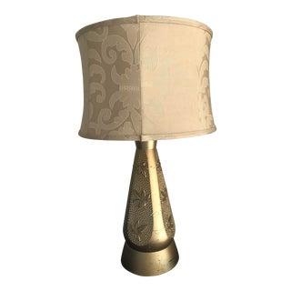 1960s Retro Gold Ceramic Lamp