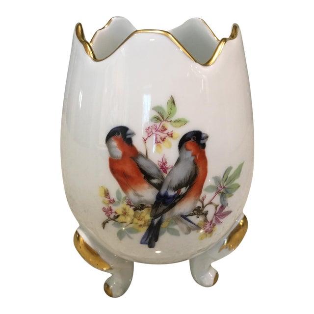 Limoges Porcelain Egg Vase For Sale