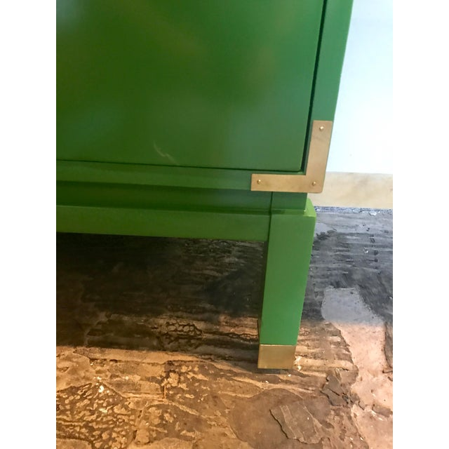 Green Lacquered Campaign Desk For Sale In Raleigh - Image 6 of 9
