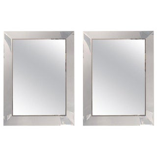 Pair of Art Deco Shadow Box Wall or Console Mirrors For Sale