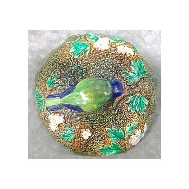 Antique George Jones Majolica Muffin Dish For Sale - Image 11 of 13