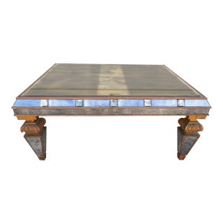 1930's Italian Mirrored Coffee Table For Sale
