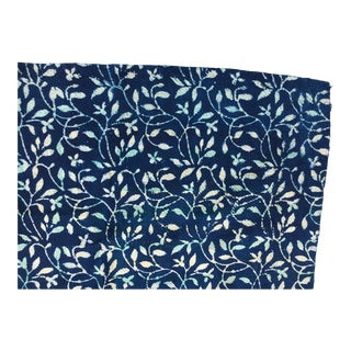 Indigo Hand Stitched Kantha Quilt For Sale