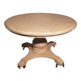 French Country Round Rustic Dining Table For Sale
