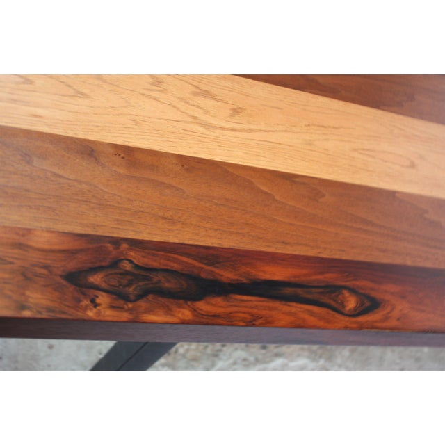 Directional Mixed-Wood Dining Table by Milo Baughman - Image 8 of 13