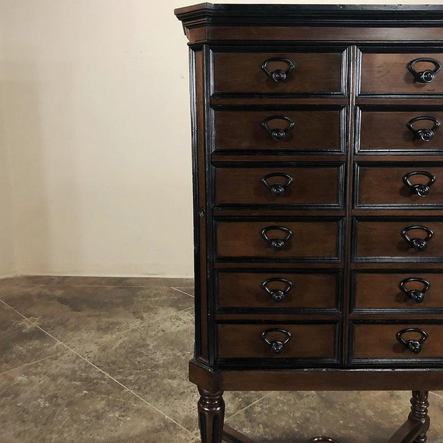 Coffee 19th Century French Napoleon III File Cabinet For Sale - Image 8 of 13