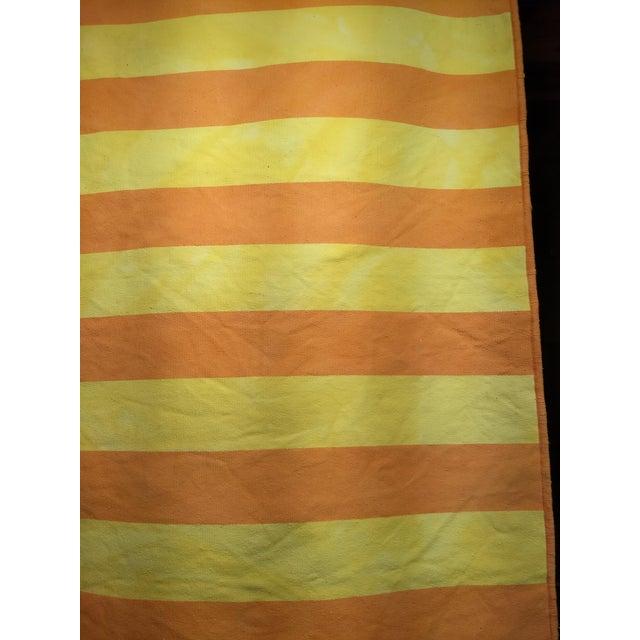 "Contemporary Vintage Turkish Modern Stripe Kilim Rug - 2' 8"" X 5' 1"" For Sale - Image 3 of 5"