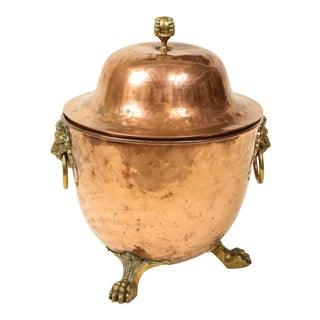 Early 19th Century Regency Copper Urn-Form Coal Hod For Sale