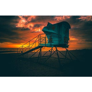 Jason Mageau Lifeguard Beach Tower Photograph (Canvas) For Sale