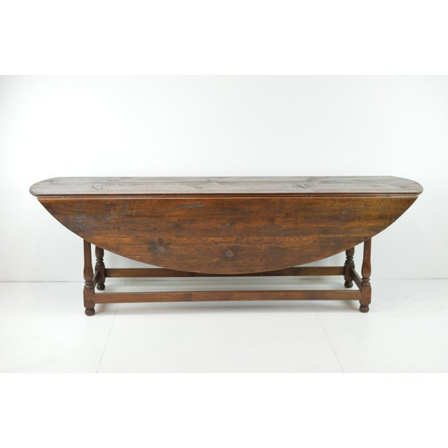 Antique Oval Drop Leaf Dining Table - Image 2 of 9