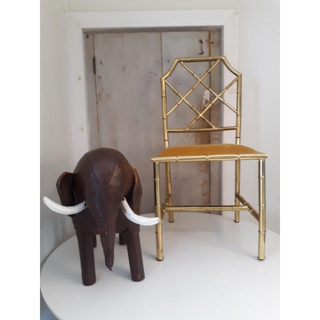 Dimitri Omersa 1960s Vintage Dimitri Omersa Elephant Abercrombie and Fitch Leather Footstool For Sale - Image 4 of 11