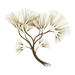 Curtis Jere Large Brass Metal Tree Wall Sculpture For Sale