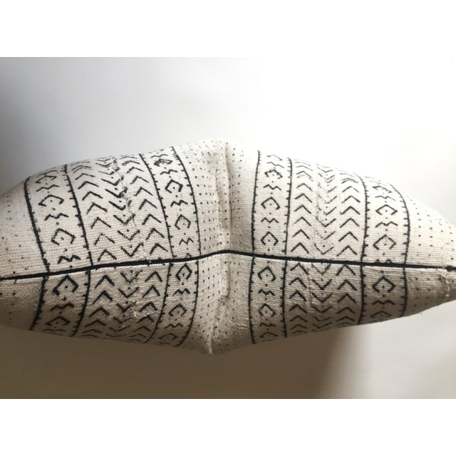 White & Black Mudcloth Pillow Cover - Image 5 of 9