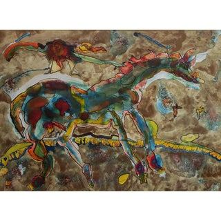 Charles Keeling Lassiter Magical Horse Painting For Sale