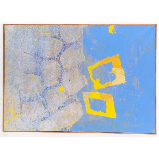 """Canvas Fernando Texidor Mid-Century Abstract """"Metamorphosis"""" Painting For Sale - Image 7 of 7"""