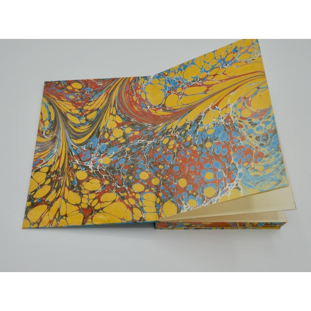 Yellow & Blue Coptic Notebooks- a Pair For Sale - Image 11 of 12