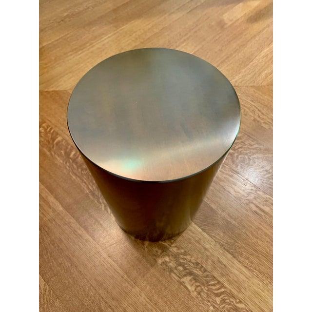 "Contemporary Italian Bronze Promemoria Edo ""Plug"" Table For Sale - Image 3 of 5"