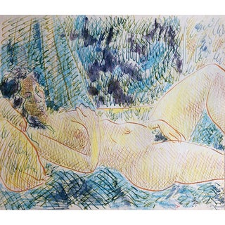 Mid-Century Female Nude Watercolor by James Bone - 1960s For Sale