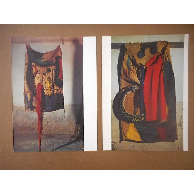 Photography Vintage Mid 20th C. Quadrichrome Photographic Prints-Derriere Le Miroir-Miro-Tapestries-A Pair For Sale - Image 7 of 8