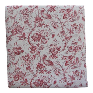 Schumacher 18th Century Traditional Birds of Paradise Red Wallpaper - 3 Double Rolls + 1 Single For Sale