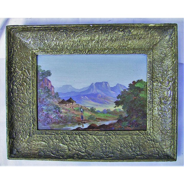20c Pair of Oil on Boards by Percy Wort of Natal South African Scenes For Sale In Dallas - Image 6 of 8