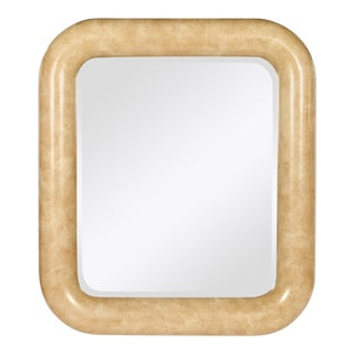 Vintage Henredon Faux Stone Rectangular Mirror For Sale