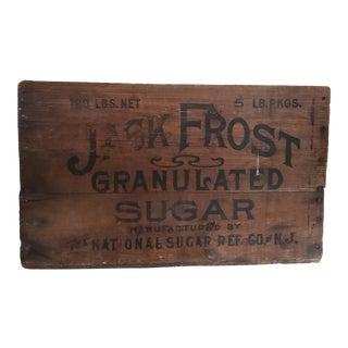Antique Jack Frost Sugar Crate For Sale