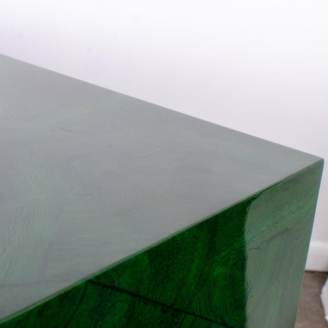 1970s Italian Malachite Lacquer Sideboard For Sale - Image 11 of 12