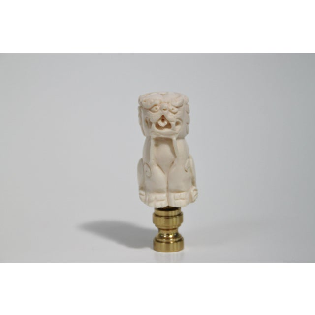 Foo Dog Lamp Finials - a Pair - Image 2 of 4
