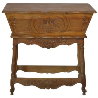 19th Century Louis XV Walnut Dough Bin For Sale