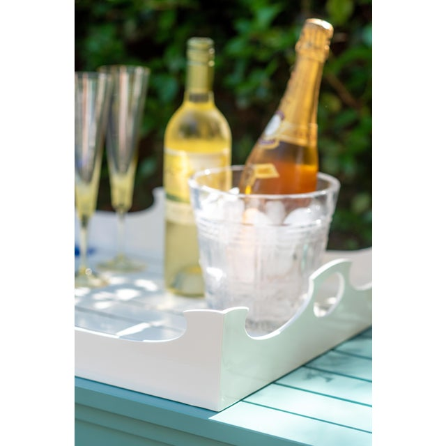 Oomph Ocean Drive Outdoor Console Tray, Green For Sale In Charlotte - Image 6 of 8