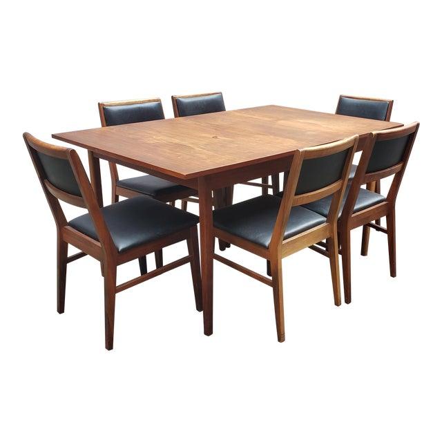 Pleasant 1950S Mid Century Modern Dining Set 7 Pieces Download Free Architecture Designs Grimeyleaguecom