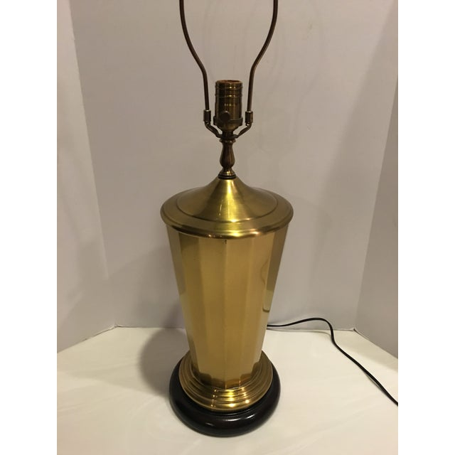 Contemporary Vintage Wildwood Brass Table Lamp For Sale - Image 3 of 8