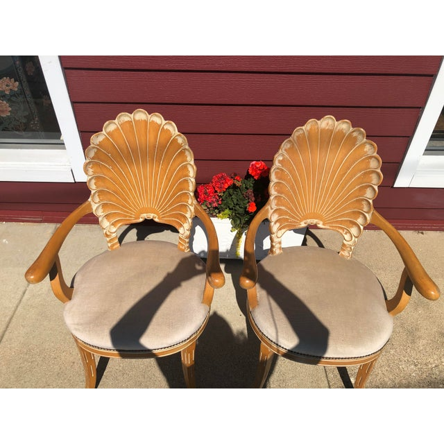 Italian Italian Seashell Chairs- a Pair For Sale - Image 3 of 9